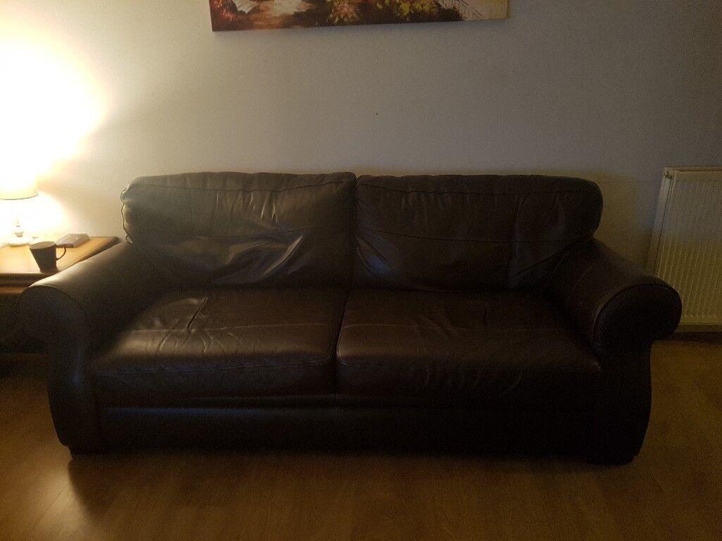 Brown Leather Reid Sofa Suite In Glasgow Gumtree