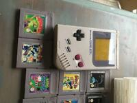 Original game boy and 11 game carts
