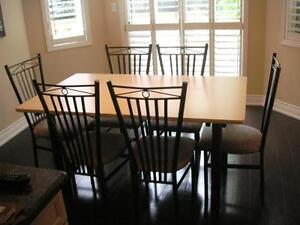 Dining set - table and 6 chairs