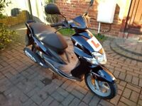 2005 Yamaha Jog 50 automatic scooter, new 1 year MOT, de-restricted, 2 stroke, cheap bargain ,,,,