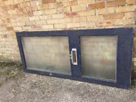 Wooden door with glass for free