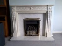 Marble fire surround (excluding fire)