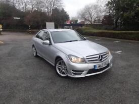 Mercedes-Benz C Class C220 Cdi Blueefficiency Amg Sport (silver) 2013