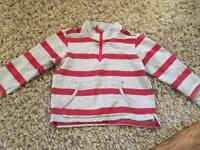 Marks and Spencer grey and red strip top 3-4