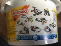 Box of Lego and meccano
