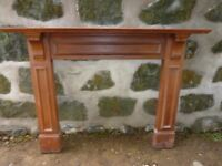 Antique Wooden Fireplace Fire Surround