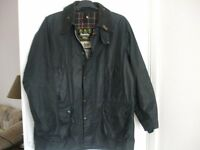 `BARBER` WAXED JACKET WITH METAL COLLAR BADGE `BEDALE` ALL GOOD ALL HEAVY DUTY ZIPS AND STUDS