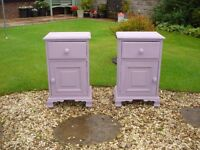two small cabinets annie sloan chalk painted in emile