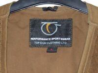 Large brown Top Gun clothing shooting vest