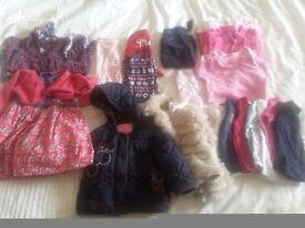 Baby girls clothing bundle, 9-12mths
