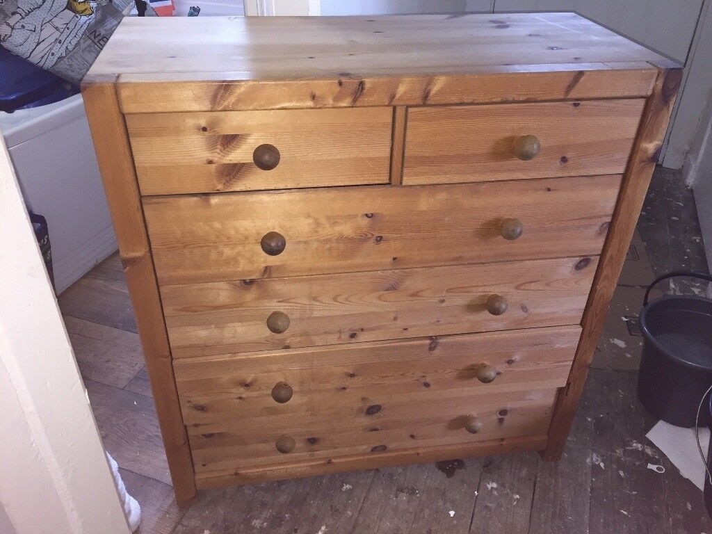 Solid Wood Children's Wardrobe & Chest of Drawers