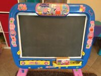 Peppa Pig Easel with box -black and white board -used condition