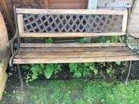 CAST IRON GARDEN BENCH ,REDUCED TO SELL.