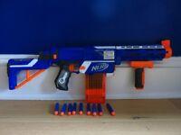 NERF Gun N-Strike Elite Retaliator Blaster with 9 extra bullets