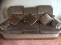 FREE 3 piece suite in brown draylon