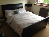 Black double bed with matress