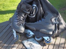 Hypnos Inline Skates / Rollerblades with Detachable Wheel UK 6 / EU 39. (including full set of pads)