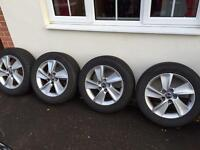 """17"""" alloys with winter tyres for new Saab 9-5"""