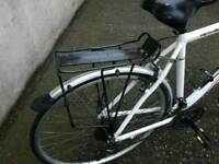 Hybrid bike men or ladies as new. Bought Christmas 2016 Mudguars, serviced. Works perfect.