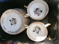 cups/saucers and small plates