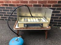 Camping Stove with table windbreak and gas