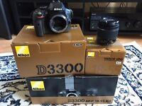 NEW NIKON D3300 DSLR Camera with 18-55 mm f/3.5-5.6 AF-P Lens KIT !
