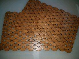 2 wooden Denby placemats