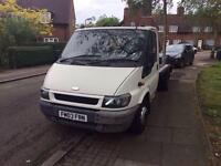2003 Ford Transit 2.4 Diesel Recovery Tow Truck 3.5 Ton Aluminium Body Very Good Runner Mot Winch