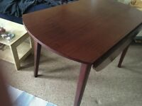 Old wooden fold-down table