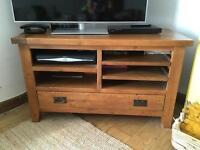 Pine TV table.