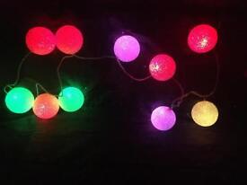 Multicoloured ball lights