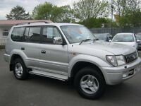 TOYOTA LANDCRUISER VX AUTO,7 SEATER 4X4 D-4D 2002 2 OWNERS £3995 PX WELCOME