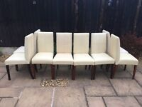 Solid oak and cream Dining chairs