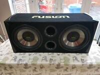 Fusion 12 Inch Subs and Amplifier RE-PK2120