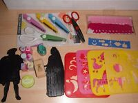 Stencils, Stamps, Craft Scissors, Dolphin Embellishments