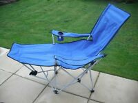 Sun Lounger Chair, folds in to a bag