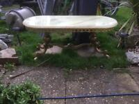 Marble and gold coffee table vintage retro