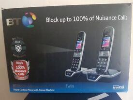 BT8600 Advanced Call Blocker Twin Digital Phone with Answer Machine