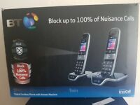 BT8600 Advanced Call Blocker Twin Digital Phone with Answer Machine