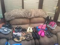 Various trainers and sandals size 5 and 6