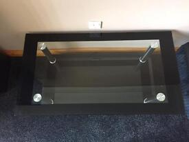 Glass coffee table with few minor scratches