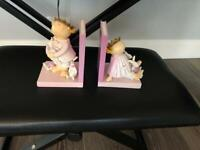 Bookends for girls room