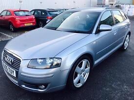 Audi A3, S-LINE,Sportback,AUTOMATIC, 2005, 2ltr DIESEL,F.S.History,2KEYS,3Mnth Warranty
