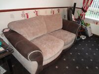 Dfs Large 2 Seater Formal Back Deluxe Sofa Bed/Armchair/Storage Footstool.