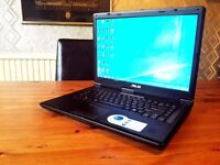 ASUS X70 LAPTOP + OFFICE 2013 + FAST + ACCESSORIES