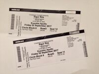 2 x Sigur Ros Tickets - Friday 22 September - Hammersmith Apollo