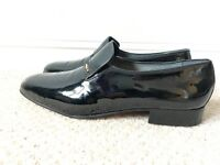 Mens Black Patent Leather Loafer   Evening Shoe   9.5   Like New