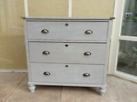 Painted Pine Chest 3 Drawer