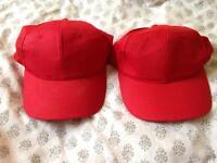 2 x Red caps - Fancy Dress!