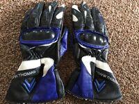 Nearly new Frank Thomas ladies motorbike leather gloves